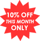 10% OFF this month ONLY